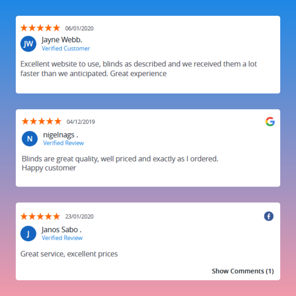 Showcase reviews on your site